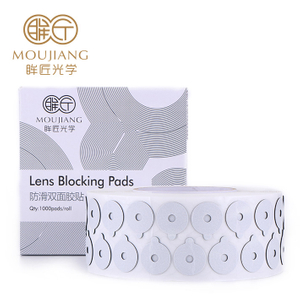 Squareness Lens Blocking Edging Pads Round Black Persistent Adhesive Force