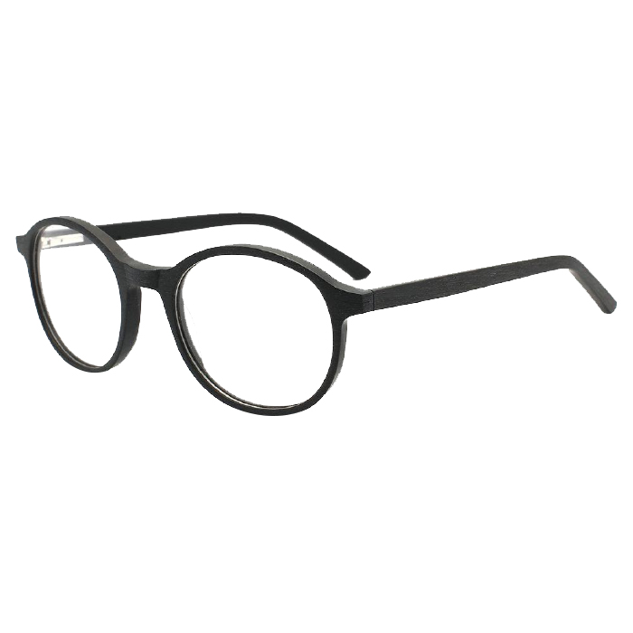 Wholesale Round Wood Acetate Optical Eyeglasses Frame